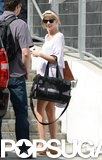 Taylor Swift arrived at an arena in Miami.