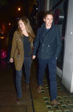 Eddie Redmayne Leads the Way For His Lady in London