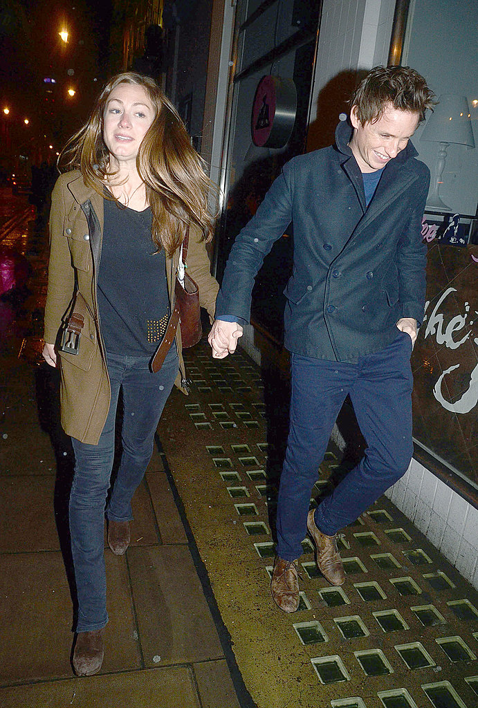 Eddie Redmayne was all smiles with Hannah Bagshawe.