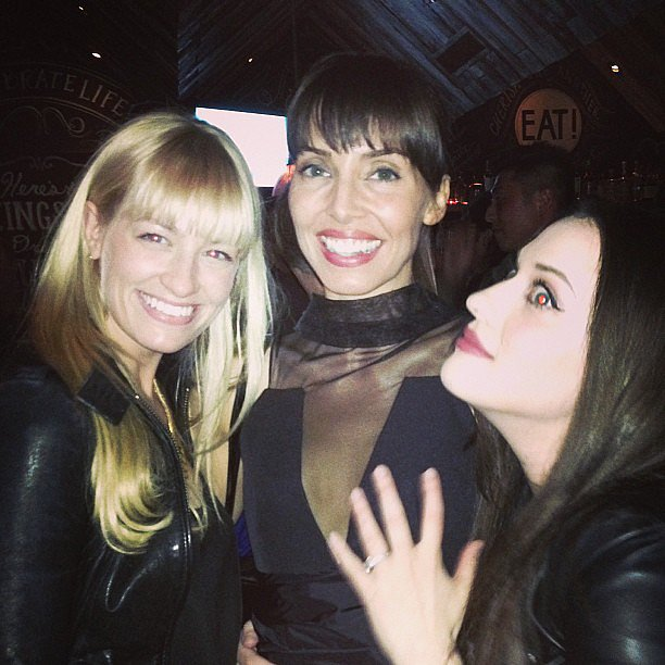 Beth Behrs, Whitney Cummings, and Kat Dennings partied together in LBDs. Source: Instagram user whitneyacummings