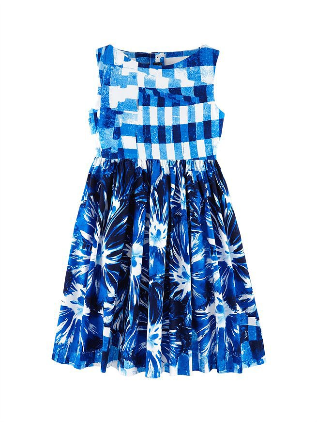 The ultimate special-occasion look, Oscar de la Renta's gingham party dress ($275) is a gorgeous contrast in gingham and floral print.