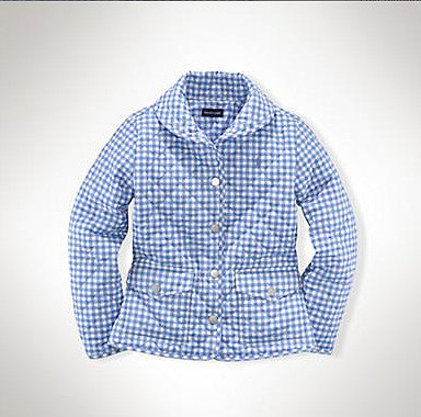 Ralph Lauren's gingham shawl barn jacket ($90, originally $110) is a light and bright Spring take on the brand's classic quilted coat — available in blue or pink.