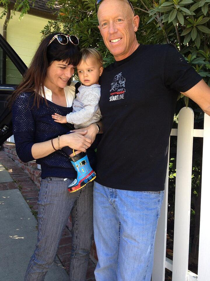 Selma Blair was thankful for the installation of little Arthur's new car seat. Source: Twitter user SelmaBlair