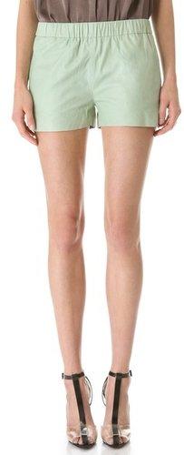 J brand ready-to-wear Lynn Paper Leather Shorts