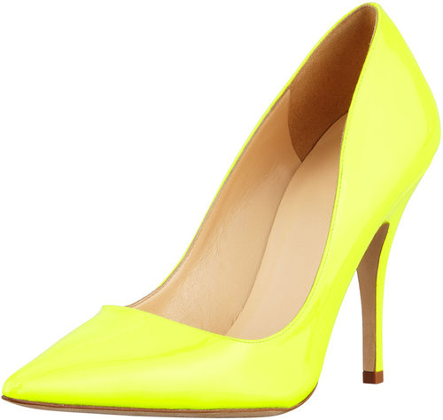 Kate Spade New York Licorice Patent Pointed-Toe Pump, Yellow