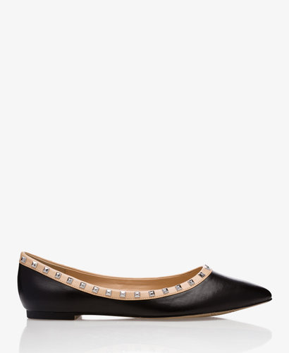 FOREVER 21 Studded Faux Leather Flats