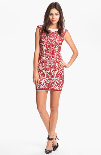 RVN 'Phoenix' Embroidered Jacquard Minidress