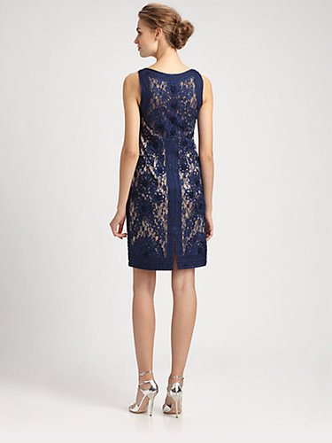 Sue Wong Soutache Lace Dress