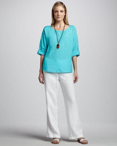 Eileen Fisher Heavy Linen Trousers, Women's