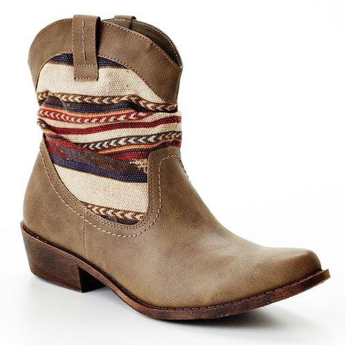 Unionbay western ankle boots - women