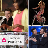 JT Stands by FLOTUS, Country Crooners Unite, and Protesters Go Topless