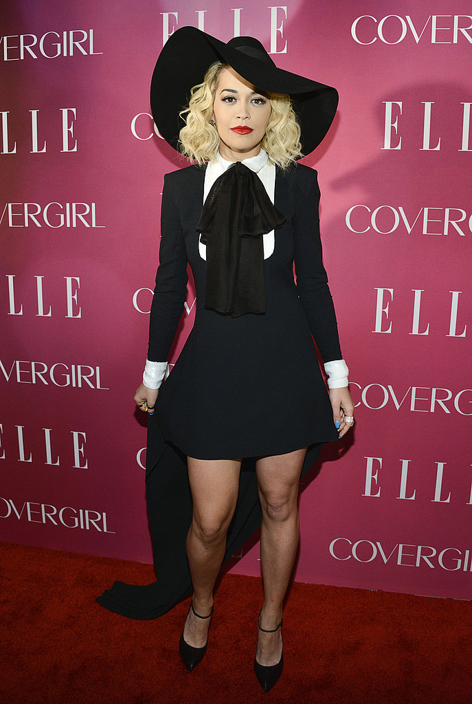 Rita Ora wore Spring 2013 Saint Laurent at the fourth annual Elle Women in Music Celebration in New York.