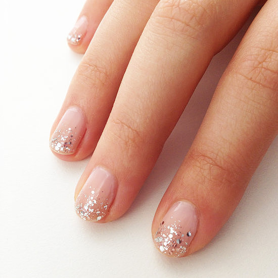 Here comes the bridal nail art! It's wedding season, and this sparkling ombré tutorial was one of your favorite pins.