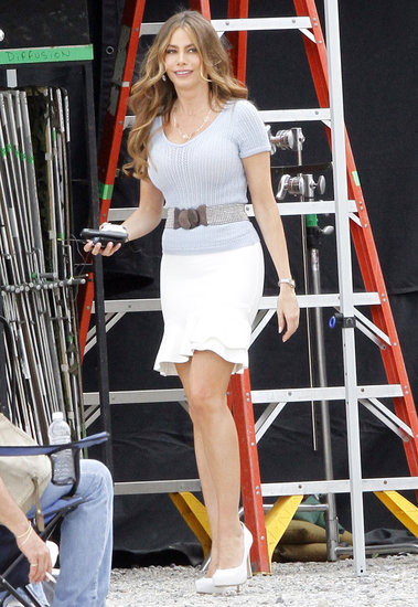 Sofia Vergara walked on the New Orleans set of Heat on Wednesday.