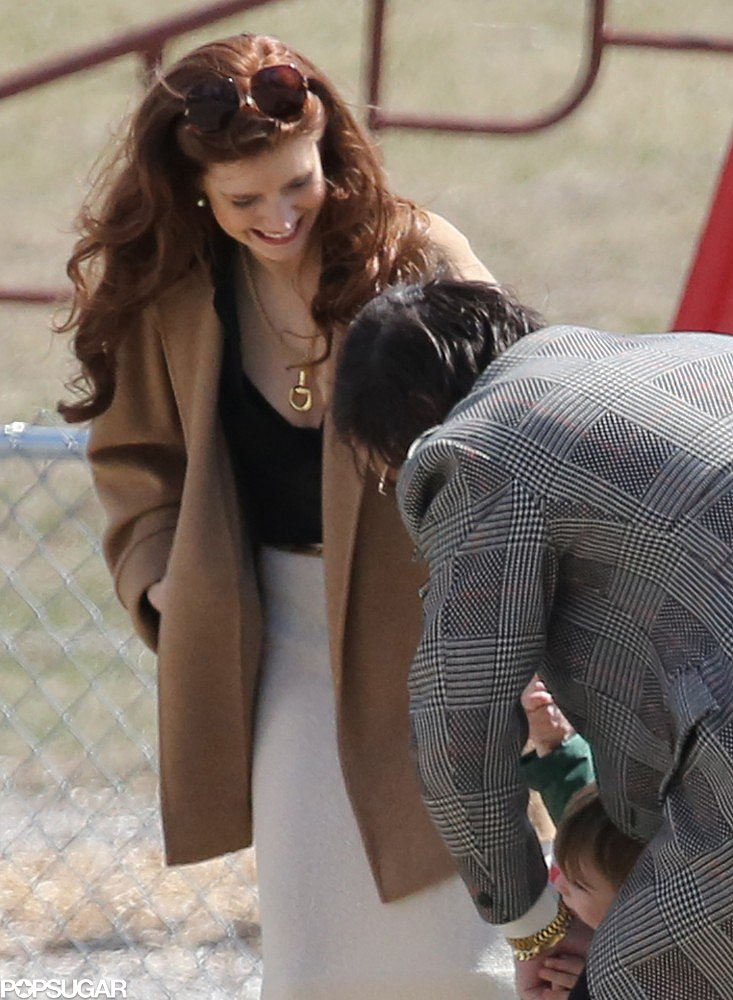 Amy Adams smiled on Tuesday during filming for the untitled David O. Russell film in Boston.