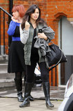 Pregnant Jenna Dewan ran errands around London.