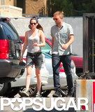 Kristen Stewart and Robert Pattinson arrived for lunch at En Sushi.