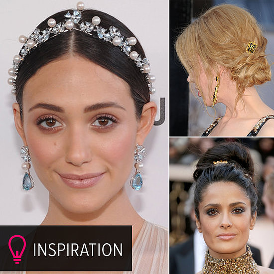 Looking to add a little razzle-dazzle to your bridal hairstyle? A simple hair accessory is a wonderful way to bring some sparkle to your already glamorous look. And where better to source the ultimate in hair jewelry than the red carpet? Check out POPSUGAR Beauty to see how your favorite stars sported hair accessories, and gain some serious inspiration.