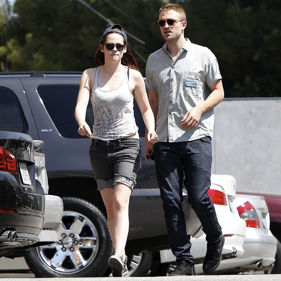 Kristen Stewart and Robert Pattinson had a nice afternoon lunch in LA