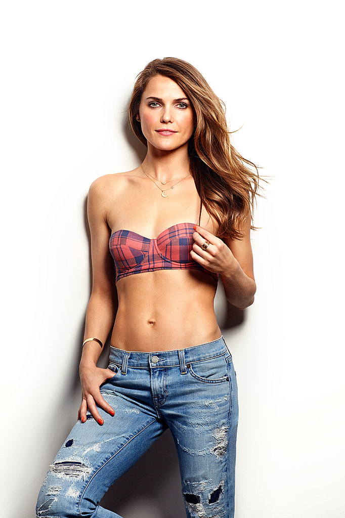 Keri Russell showed skin in May's Women's Health.