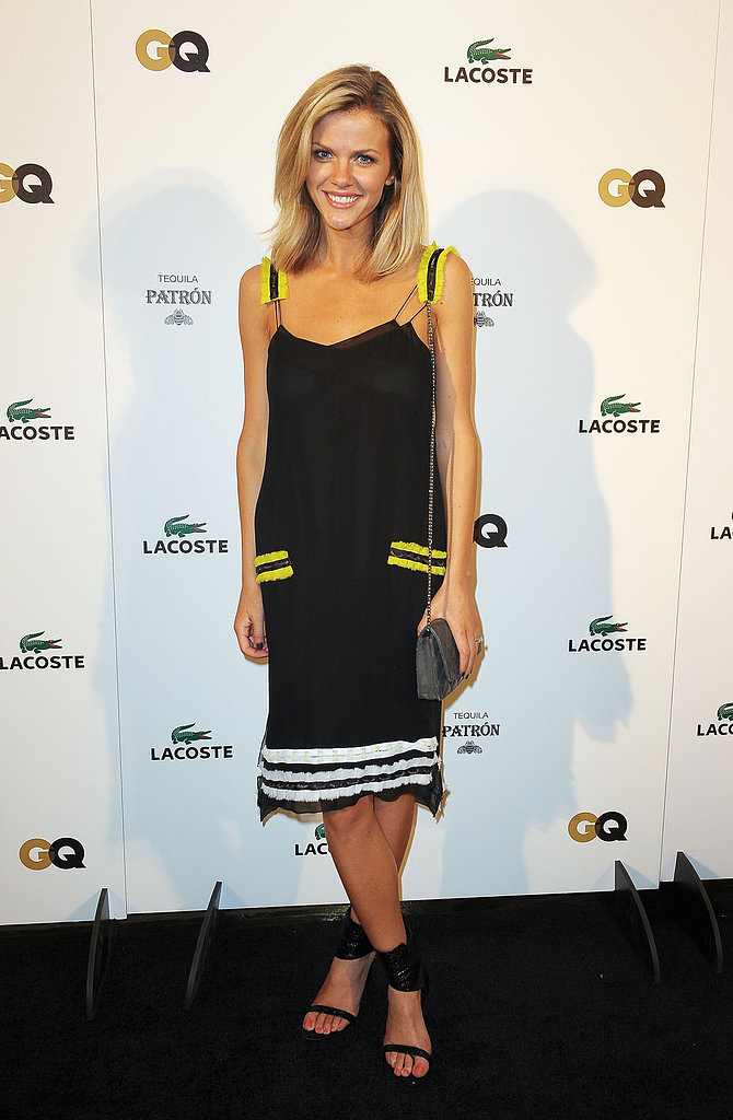 Brooklyn Decker in Neon-Trimmed Proenza Schouler at 2012 Lacoste Super Bowl Party