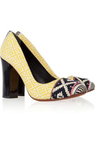 Tory Burch Dara Woven Cotton Pumps ($325)