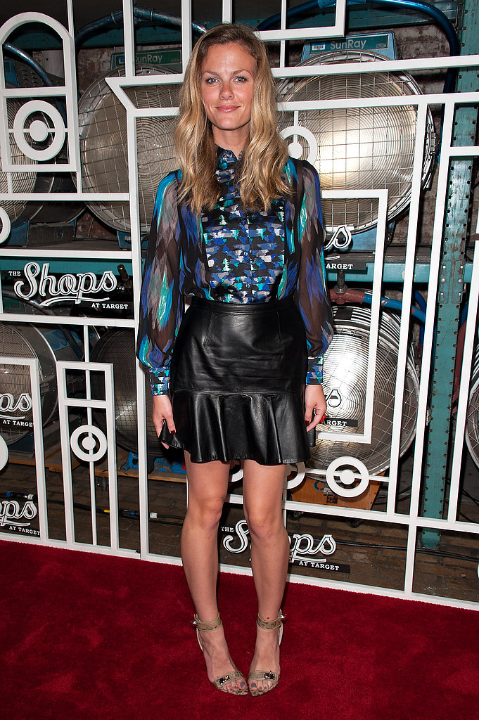 Brooklyn Decker in Leather Skirt at 2012 Target Launch Party