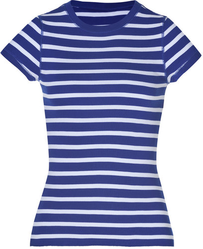 Ralph Lauren Black Striped Cotton Agness T-Shirt in Royal/White