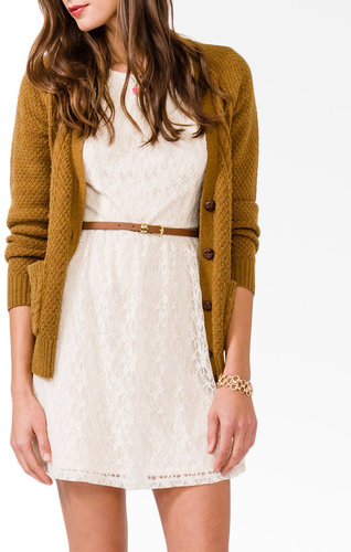 FOREVER 21 Belted Lace Dress
