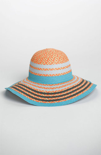 BCBGeneration Pop Stripe Floppy Sun Hat