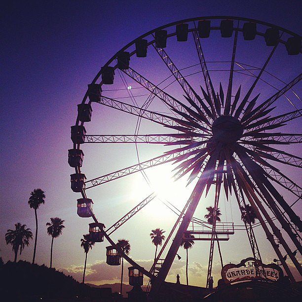 Rebecca Minkoff shared a great photo of the Coachella sunset. Source: Instagram user rebeccaminkoff