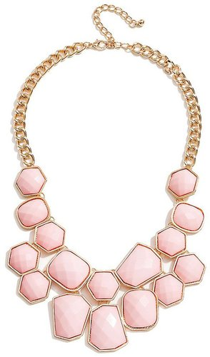 Pink Faceted Stone Statement Necklace