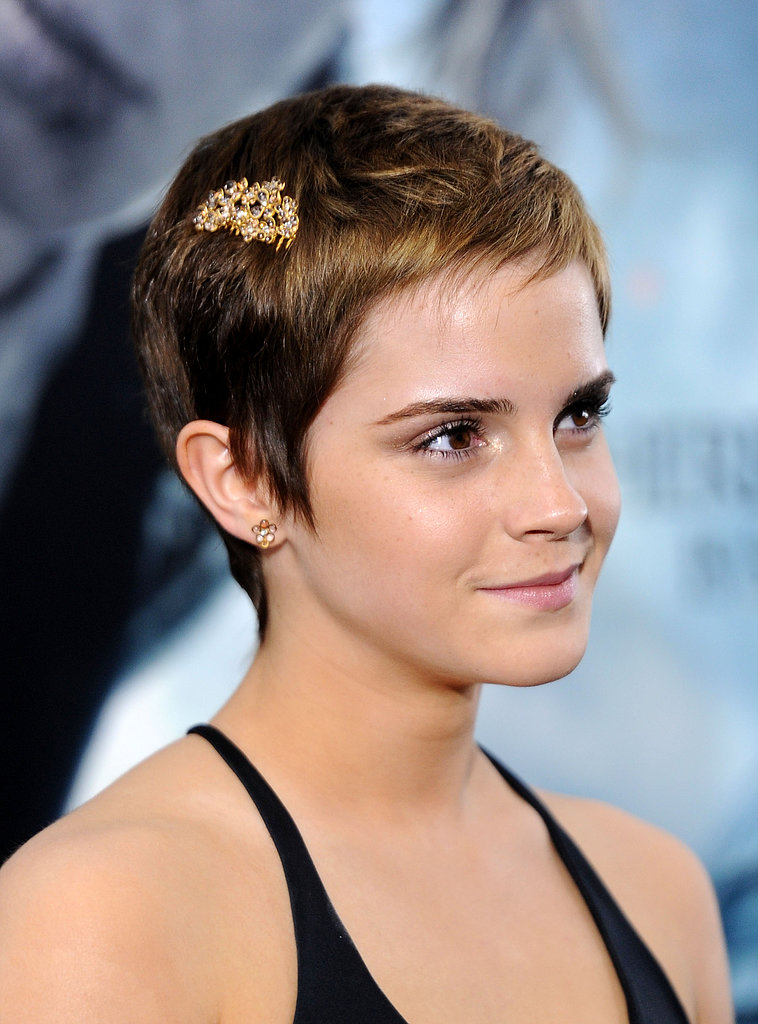 Emma added some flair to her newly chopped pixie cut with a gilded hair clip at the New York premiere of Harry Potter and the Deathly Hallows: Part 1 in 2010.
