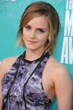 Honey-blond hair and icy-blue eye shadow made up Emma's look at the 2012 MTV Movie Awards.