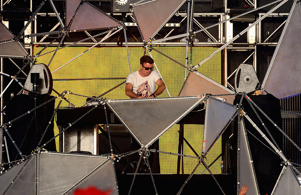 DJ Paul Oakenfold performed on a cool set on Sunday.