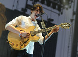 Ezra Koenig from Vampire Weekend took the stage on Sunday.