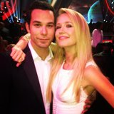 Skylar Astin and Anna Camp posed together for their Pitch Perfect reunion. Source: Instagram user skylarastin