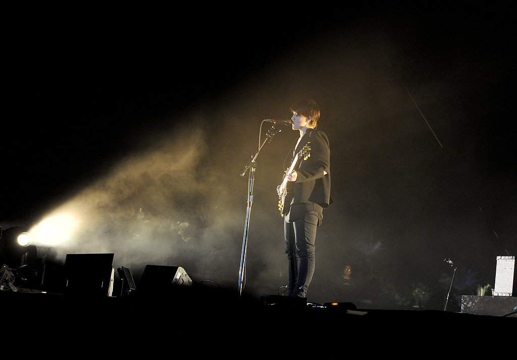 Romy Madley Croft of The xx performed in the spotlight.