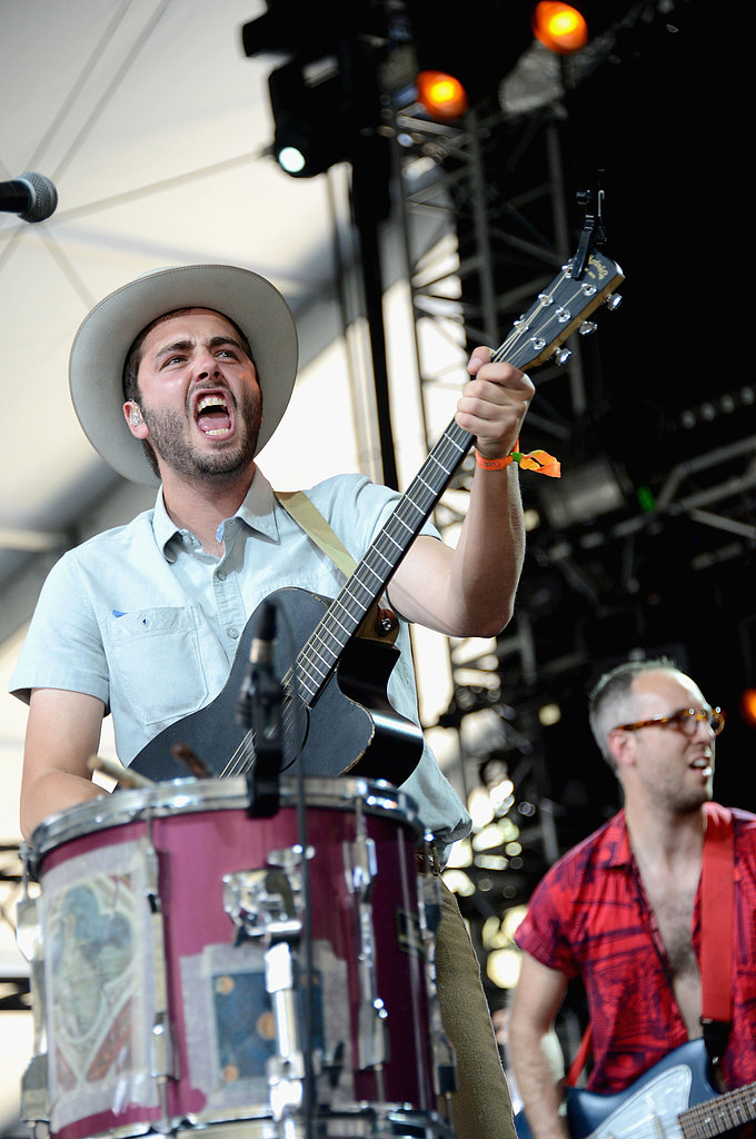 Ben Schneider of Lord Huron rocked it out on stage on Friday.