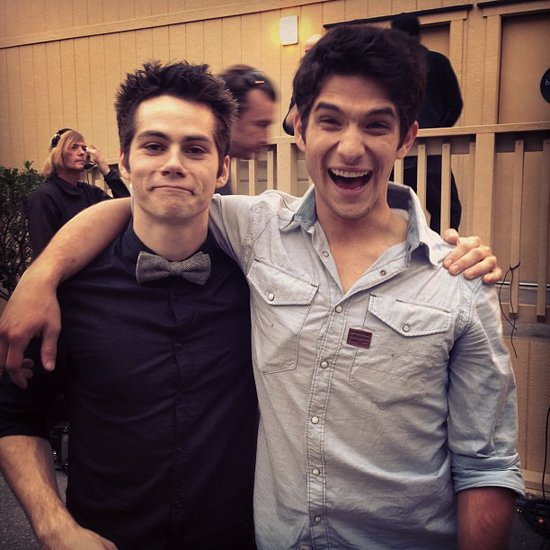 Teen Wolf's Dylan O'Brien and Tyler Posey shared a bro moment. Source: Instagram user mtv