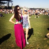 AnnaSophia Robb posed in her American Eagle apparel at Coachella. Source: Instagram user annasophiarobbofficial