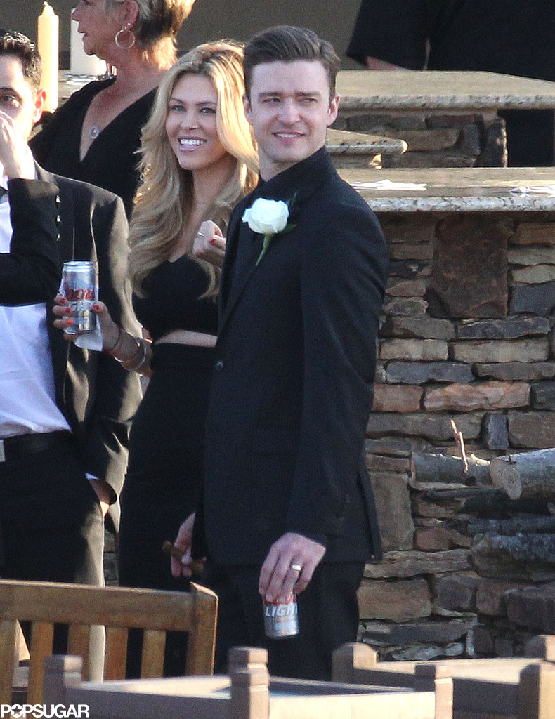 Justin Timberlake celebrated at a wedding in Tennessee.