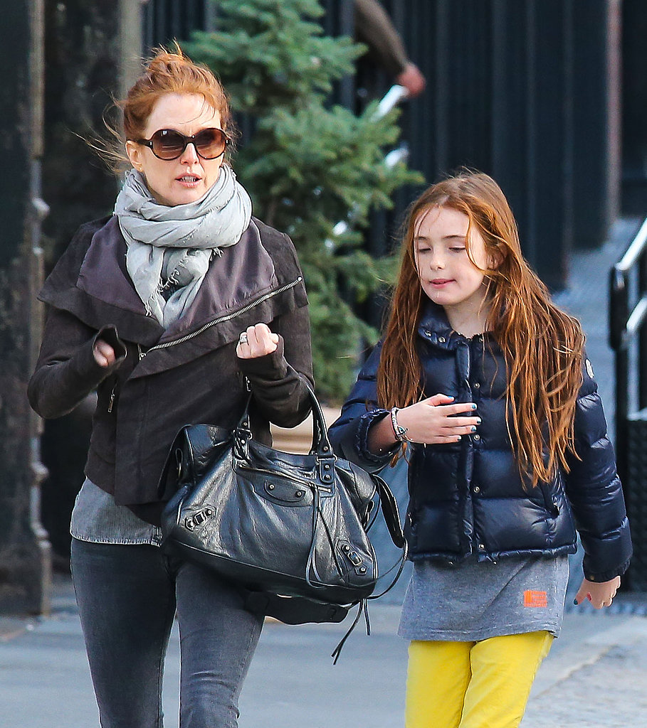 Julianne Moore and Liv Freundlich walked through NYC together on Sunday.
