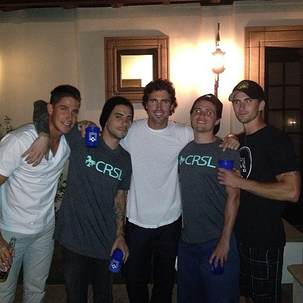 Brody Jenner buddied up with a group of his guy friends for Coachella weekend one.  Source: Instagram user brodyjenner