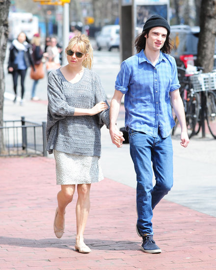Sienna Miller and Tom Sturridge held hands.