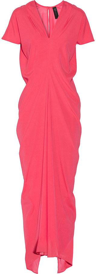 The shape of this Zero + Maria Cornejo Stella neon stretch-silk charmeuse maxi dress ($925) was built to flatter and create curves — and if you're not the shoulder-baring kind of girl, this gown has short sleeves that offer more coverage.