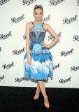 Jaime King paired her photo-print Peter Pilotto dress with white sunglasses for a film event in June 2012.