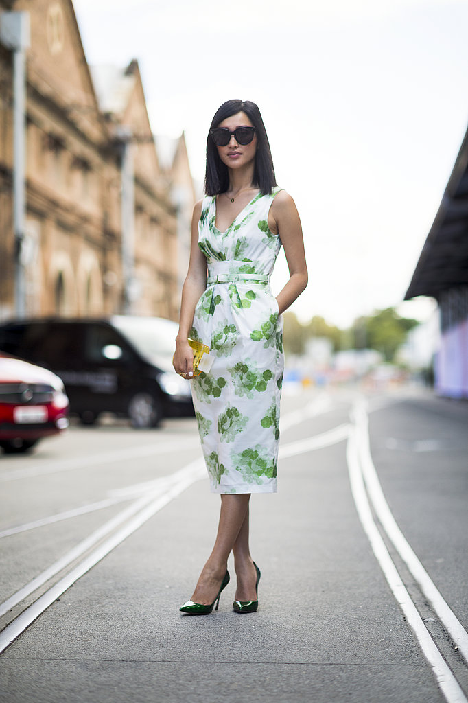 Behold, the power of a great printed dress. We can't get over the sweet florals or the sophisticated cut. Source: Le 21ème | Adam Katz Sinding