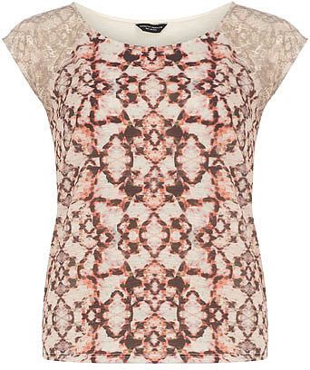 Snake lace print tee