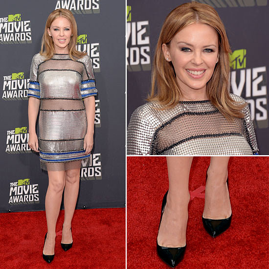 Pics of Kylie Minogue in Paco Rabanne: 2013 MTV Movie Awards